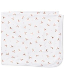 Ralph Lauren Baby Girls Bear Cotton Blanket
