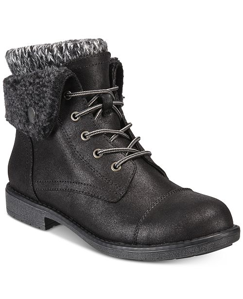 65d368bef87 White Mountain Cliffs by Duena Lace-Up Booties   Reviews - Boots ...