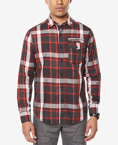 Sean John Men's Plaid Shirt, Created for Macy's