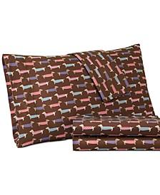 Micro Flannel Printed King 4-pc Sheet Set