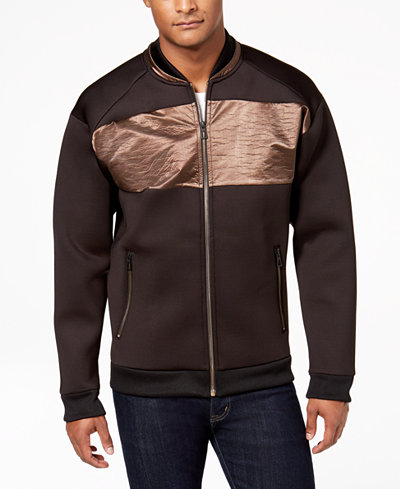 Calvin Klein Men's Multi-Media Full-Zip Jacket