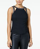 XOXO Juniors' Embellished Cutout Tank Top