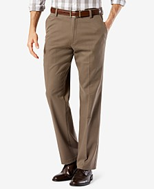 Men's Easy Straight Fit Khaki Stretch Pants