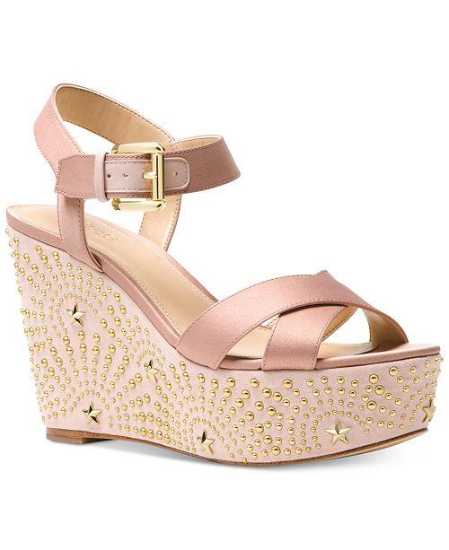 a844f89c8b Michael Kors Sia Wedge Sandals & Reviews - Sandals & Flip Flops ...