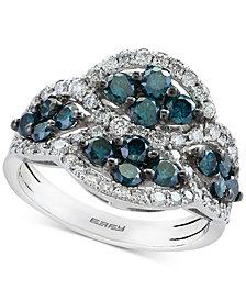 EFFY® Diamond Cluster Ring (1-5/8 ct. t.w.) in 14k White Gold
