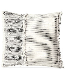 "Lucky Brand Woven Textured 16"" Square Decorative Pillow"