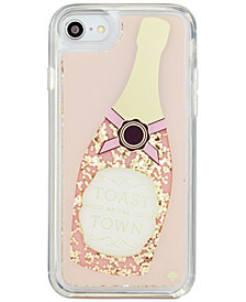 kate spade new york Champagne Glitter iPhone 8 Case