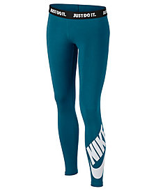 Nike Logo Graphic Leggings, Big Girls