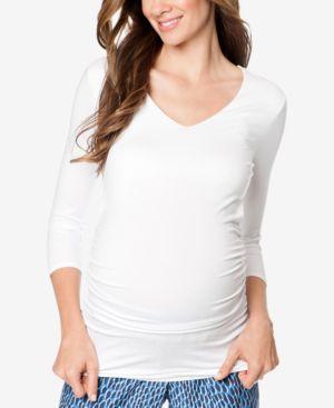 Isabella Oliver Maternity Ruched Shirt thumbnail