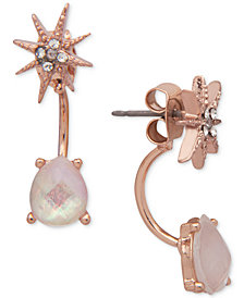 lonna & lilly Star Crystal & Stone Front & Back Earrings