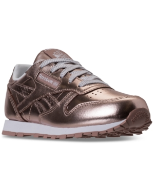 Reebok Little Girls Classic Leather Metallic Casual Sneakers from Finish Line