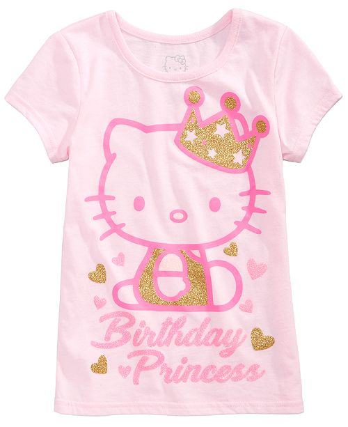 Hello Kitty Toddler Girls Birthday Princess T Shirt