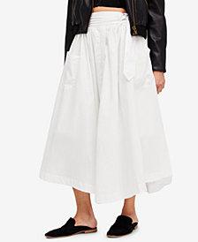 Free People Dream Of Me Cotton Midi Skirt