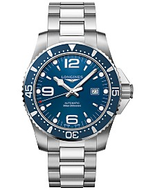 Longines Men's Swiss Automatic HydroConquest Stainless Steel Bracelet Watch 44mm