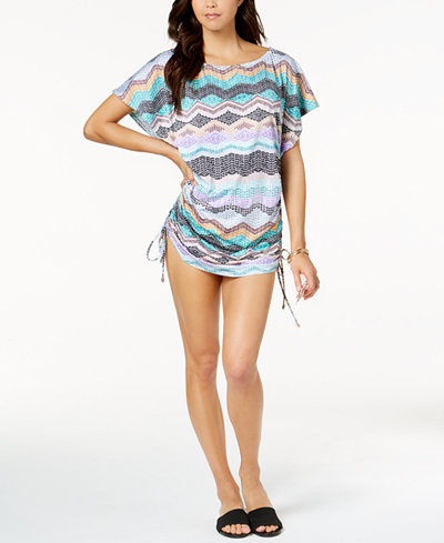Bar III Spirit Tribal-Print Side-Tie Cover-Up, Created for Macy's