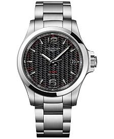 Longines Men's Swiss Conquest VHP Stainless Steel Bracelet Watch 41mm