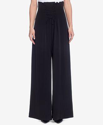 Catherine Malandrino High-Waist Lace-Up Pants