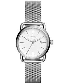 Fossil Women's Commuter Stainless Steel Mesh Bracelet Watch 34mm