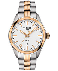 Tissot Women's Swiss T-Classic PR 100 Two-Tone Stainless Steel Bracelet Watch 33mm