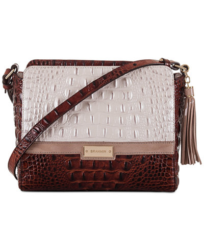 Brahmin Toasted Macaroon Durance Carrie Small Crossbody