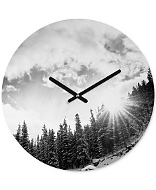 Deny Designs Bird Wanna Whistle White Mountain Round Clock