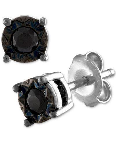 Diamond Miracle Plate Stud Earrings 1 4 Ct T W In Sterling Silver Macy S