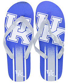 Forever Collectibles Unisex Kentucky Wildcats Gradient Big Logo Flip Flops