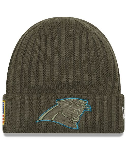 47201417162f56 27eed 9b8f5; cheapest new era. carolina panthers salute to service cuff knit  hat. be the first