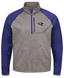 G-III Sports Men's Baltimore Ravens Mountain Trail Quarter-Zip Pullover