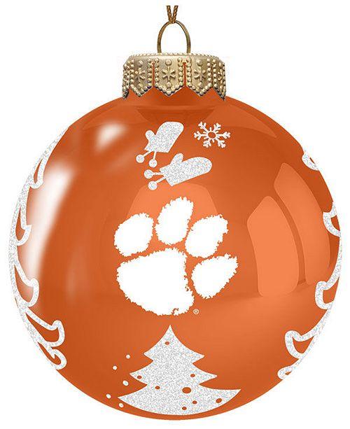 Clemson Christmas Tree: Memory Company Clemson Tigers Glass Christmas Tree