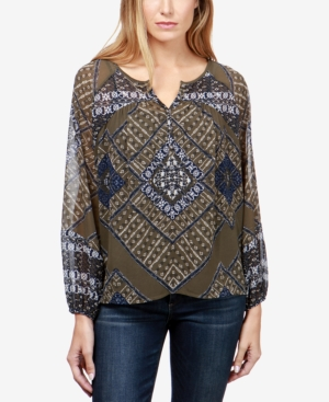 Lucky Brand Printed Peasant...