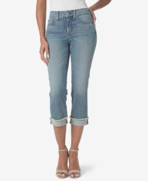 Nydj TummyControl Frayed Capri Jeans