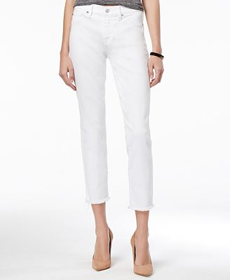 7 For All Mankind Roxanne Ankle with Raw Hem Skinny Jeans