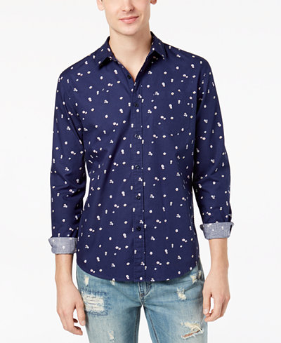 American Rag Men's Floral Print Shirt, Created for Macy's