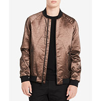 Calvin Klein Men's Copper Bomber Jacket (Dark Cocoa)