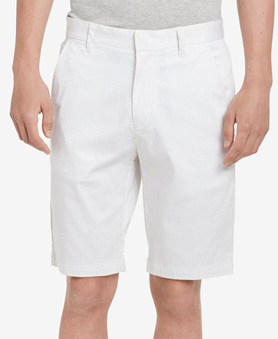 Calvin Klein Men's Micro-Grid Printed Shorts