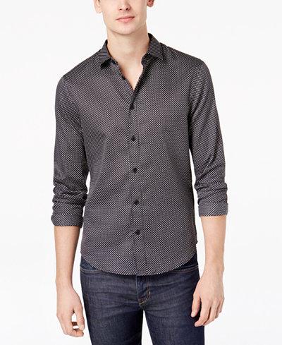 Armani Exchange Men's Dot-Print Shirt
