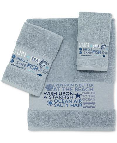 Avanti Sunbeach Cotton Embroidered Bath Towels