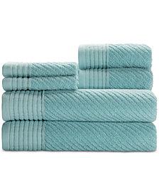 Caro Home Beacon Cotton 6-Pc. Textured Towel Set