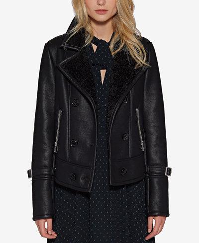 Avec Les Filles Faux-Leather Moto Jacket