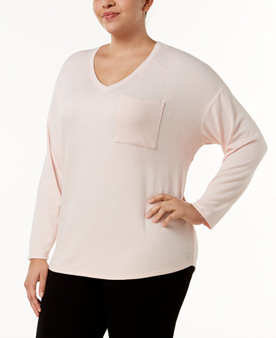 Calvin Klein Performance Plus Size Drop-Shoulder T-Shirt