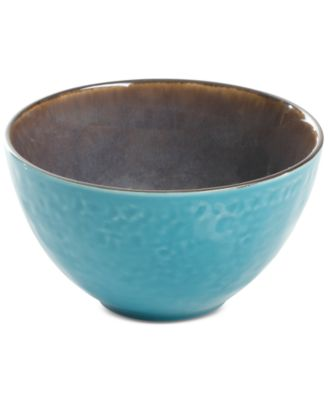 Elite Reactive Glaze Teal Fruit Bowl, Created for Macy's