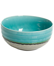 Gibson Reactive Glaze Jade Small Serving Bowl, Created for Macy's
