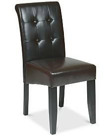 Kennia Button Tufted Dining Chair, Quick Ship
