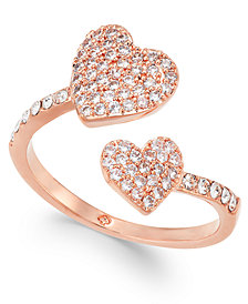 kate spade new york Rose Gold-Tone Pavé Heart Ring