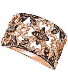 Le Vian Chocolatier® Diamond Fancy Filigree Ring (1 ct. t.w.) in 14k Rose Gold