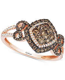 Le Vian Chocolatier® Diamond Fancy Ring (3/4 ct. t.w.) in 14k Rose Gold