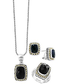 Eclipse by EFFY® Onyx Jewelry Collection in Sterling Silver & 18k Gold