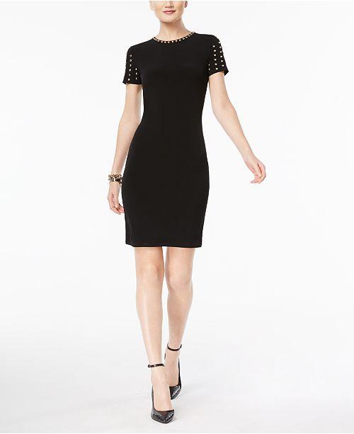 Michael Kors Pee Stud Trim Sheath Dress