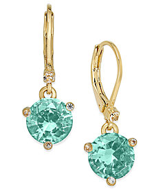 kate spade new york Gold-Tone Crystal Drop Earrings